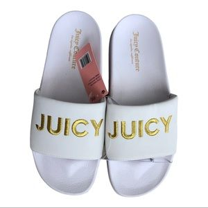 Juicy Couture Wiggles Slides in White Size 9M